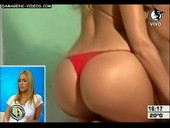 Belen Francese booty in red thong